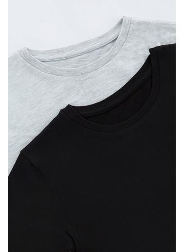 Penti Gri Melanj - Siyah Çocuk Hot Tech 2Li Içlik Tişört Gri